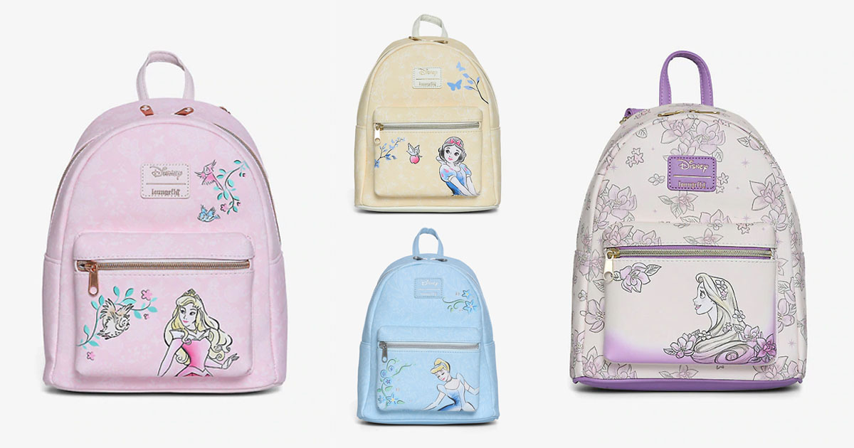 New Loungefly Disney Princess Backpacks Now Available For Pre Order Disney News